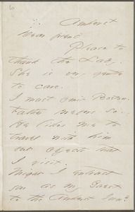 Emily Dickinson, Amherst, Mass., autograph letter signed to Thomas Wentworth Higginson, 9 June 1866