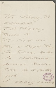 Emily Dickinson, Amherst, Mass., autograph manuscript poem: The luxury to apprehend, 1867