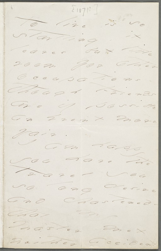 Your Scholar (Emily Dickinson), Amherst, Mass., autograph letter signed to Thomas Wentworth Higginson, late 1872