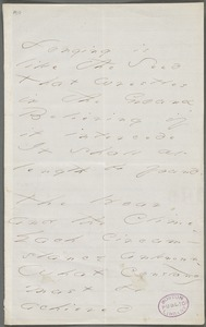 Emily Dickinson, Amherst, Mass., autograph manuscript poem: Longing is like the seed, 1873