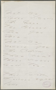 Emily Dickinson, Amherst, Mass., autograph manuscript poem: Not any higher stands the grave, 1873