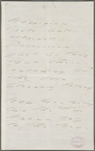 Emily Dickinson, Amherst, Mass., autograph manuscript poem: Dominion lasts until obtained, 1873