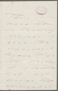 Your Scholar (Emily Dickinson), Amherst, Mass., autograph letter signed to Thomas Wentworth Higginson, February 1876