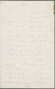 Your Pupil (Emily Dickinson), Amherst, Mass., autograph letter signed to Thomas Wentworth Higginson, August 1877