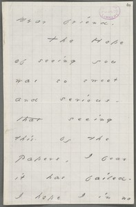 Your Pupil (Emily Dickinson), Amherst, Mass., autograph note signed to Thomas Wentworth Higginson, March 1878