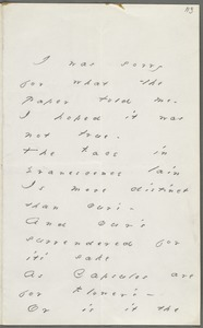 Emily Dickinson, Amherst, Mass., autograph letter to Thomas Wentworth Higginson, March 1880