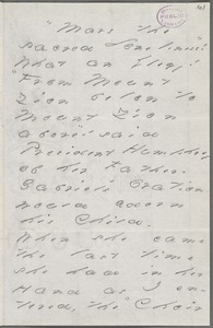 Your Scholar (Emily Dickinson), Amherst, Mass., autograph letter signed to Thomas Wentworth Higginson, Spring 1886