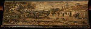 A village scene, probably depicting Burns' birthplace