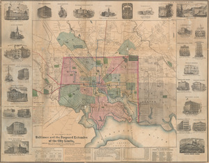 F. Klemm's map of Baltimore and the proposed extension of the city limits