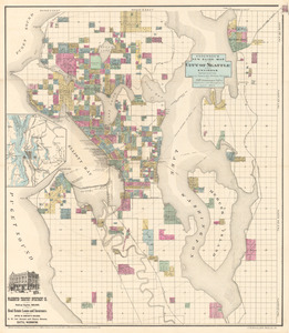 Anderson's new guide map of the city of Seattle and environs