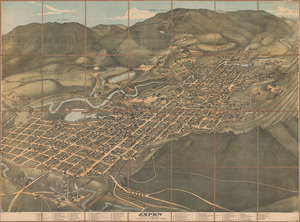 Bird's eye view of Aspen, Pitkin Co. Colo. 1893