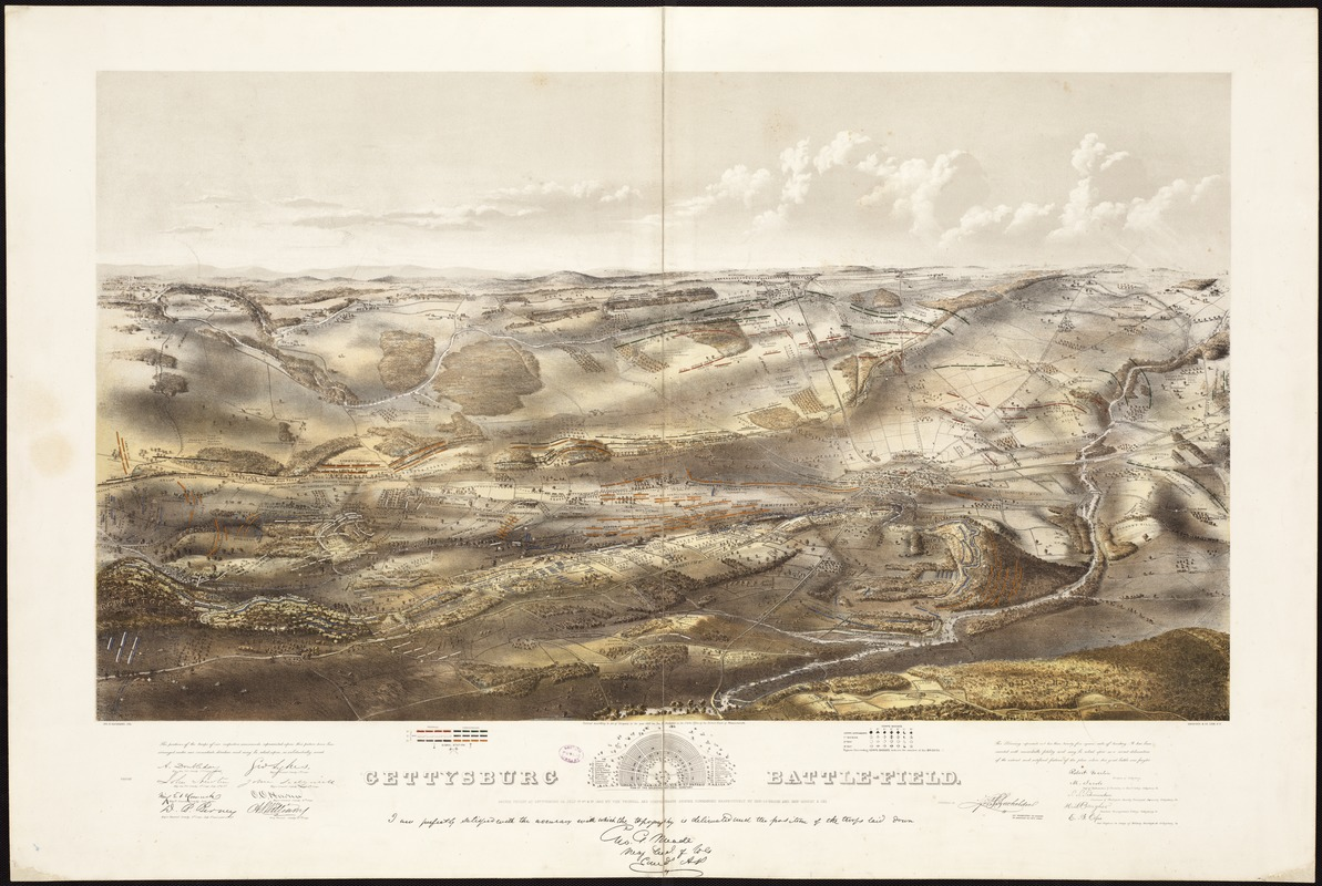Gettysburg Topographic Map.Gettysburg Battle Field Norman B Leventhal Map Education Center