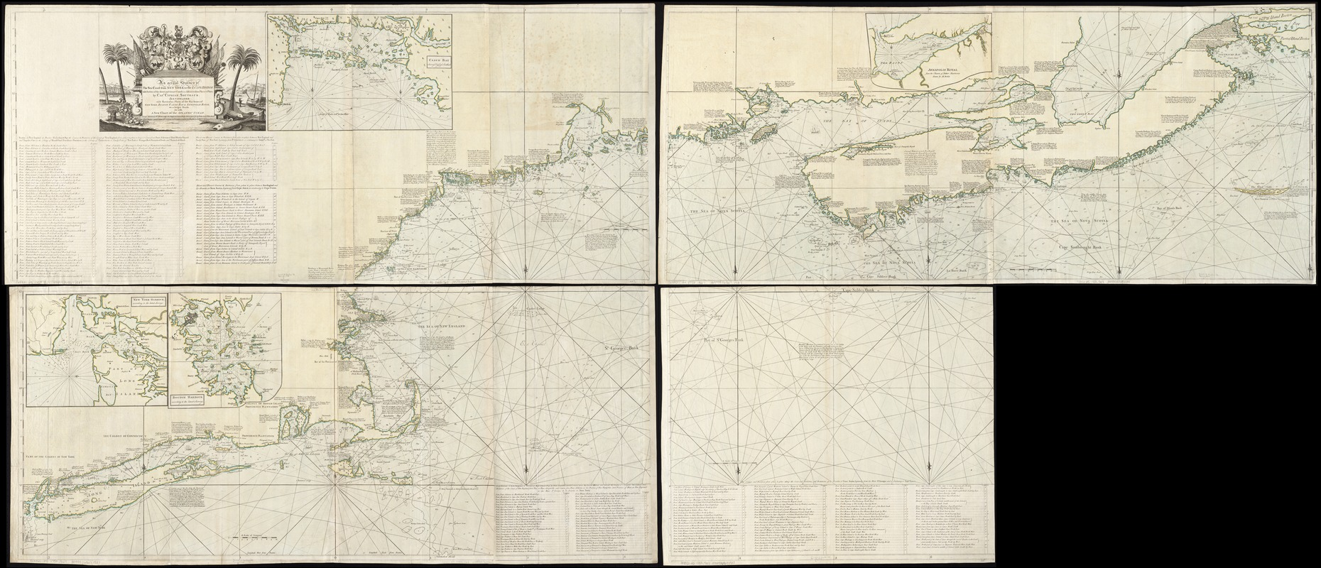 An actual survey of the sea coast from New York to the I. Cape Briton