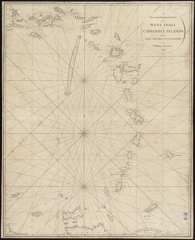 A new and improved chart of the West India or Carribbee [sic] Islands