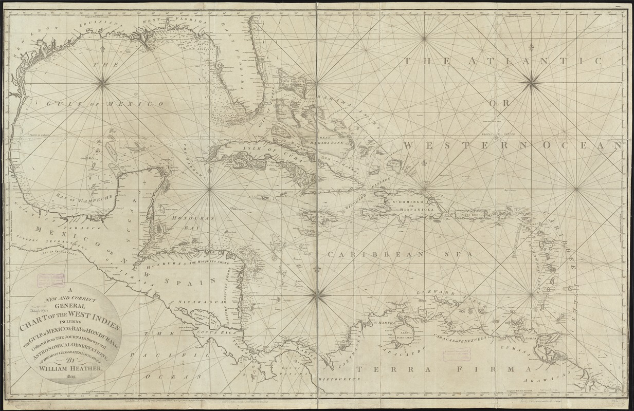 A new and correct general chart of the West Indies including the Gulf of Mexico & Bay of Honduras &c