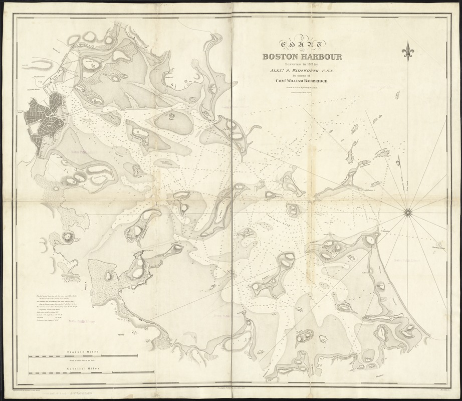 Chart of Boston Harbour