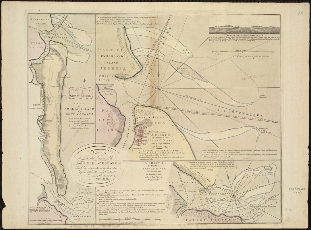 Plan of Amelia Island in East Florida