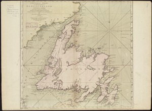 A general chart of the island of Newfoundland with the rocks & soundings