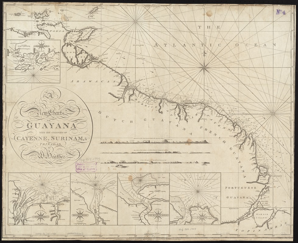 A new chart of Guyana with the colonies of Cayenne, Surinam, & Trinadad