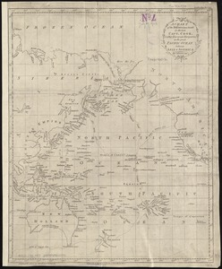A chart of the discoveries made by the late Capt. Cook, & other European navigators, in the great Pacific Ocean between Asia and America
