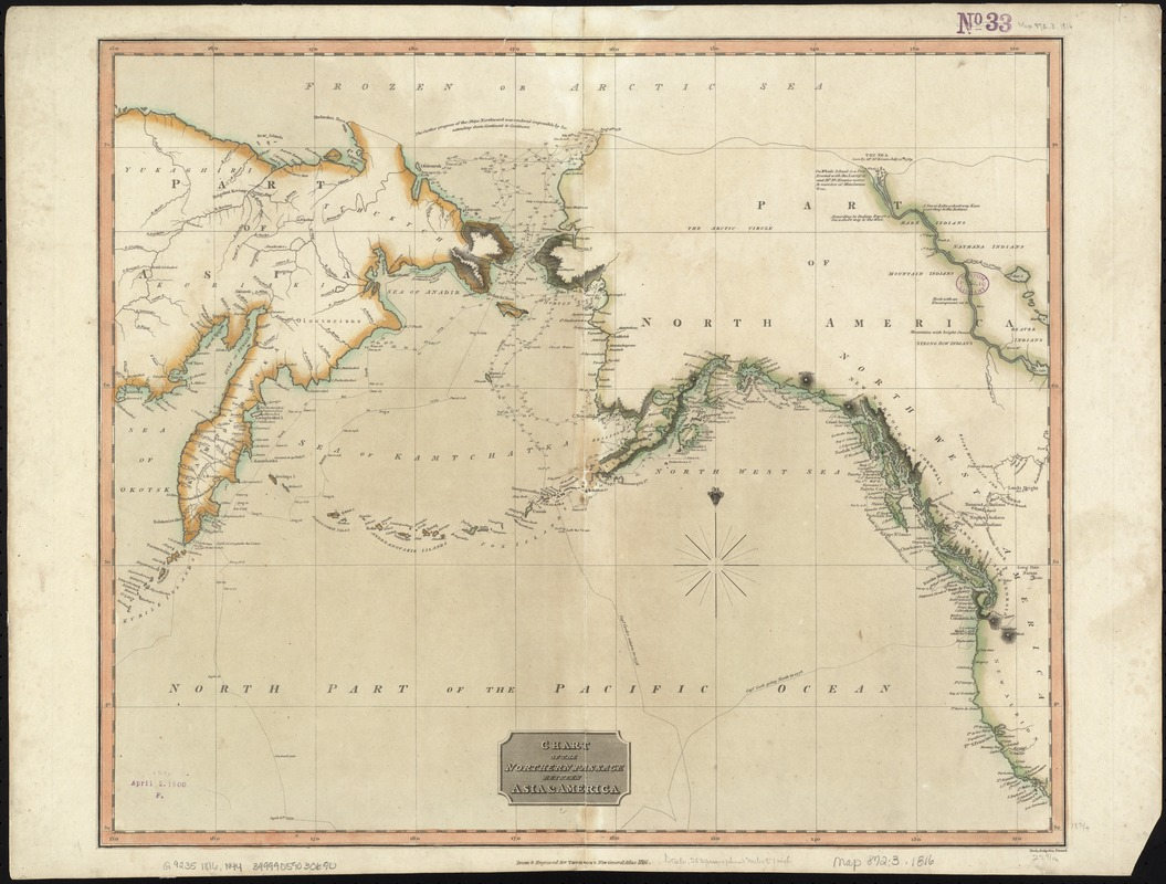 Chart of the Northern Passage between Asia & America
