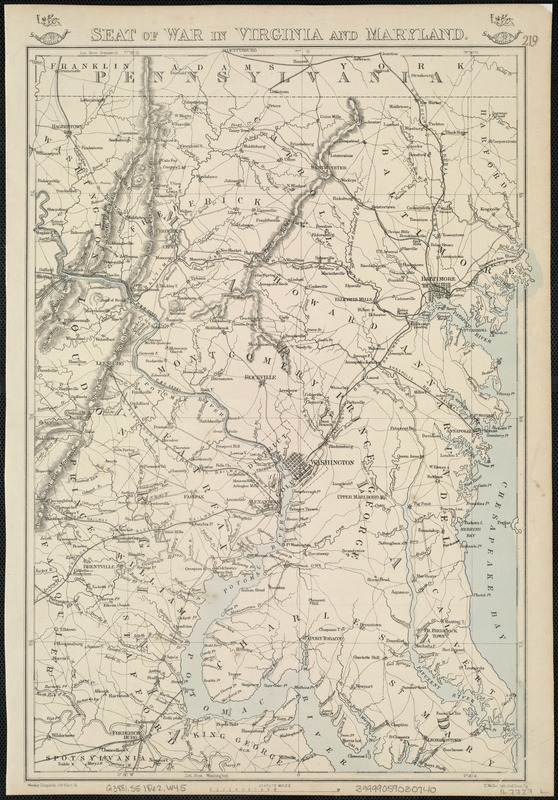 Seat of war in Virginia and Maryland