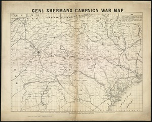 Genl. Sherman's campaign war map