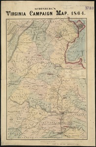 Schonberg's Virginia campaign map, 1864