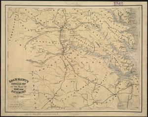 E. & G.W. Blunt's corrected map of the seat of war near Richmond, July 10th, 1862