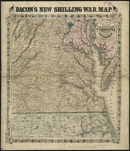 Bacon's Map of the seat of war in Virginia