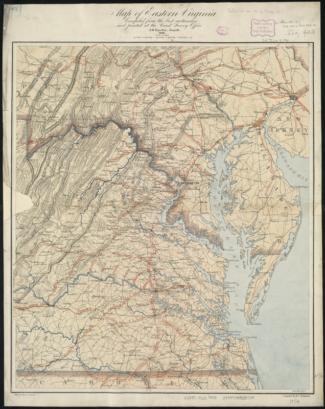 Map of eastern Virginia