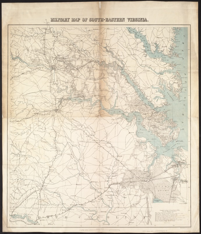 South Virginia Map.Military Map Of South Eastern Virginia Norman B Leventhal Map