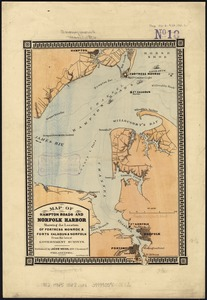 Map of Hampton Roads and Norfolk Harbor