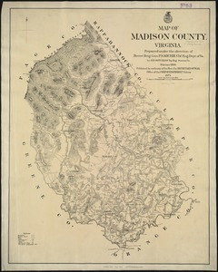 Map of Madison County, Virginia