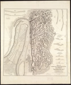 Map of the siege of Vicksburg, Miss