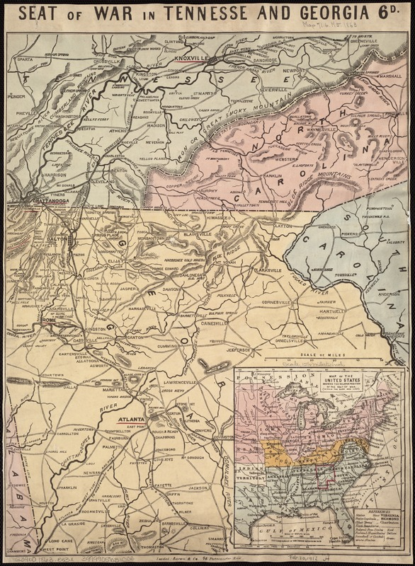 Seat of war in Tennesse and Georgia