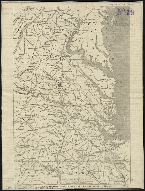Field of operations of the Army of the Potomac