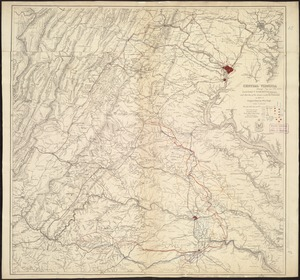 Central Virginia showing Lieut. Gen'l. U.S. Grant's Campaign and marches of the armies under his command in 1864-65
