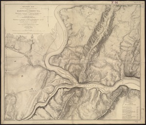 Military map showing the topographical features of the country adjacent to Harper's Ferry, Va