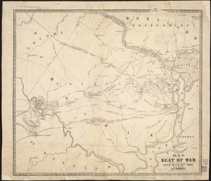 Map of the seat of war showing the battles of July 18th & 21st 1861