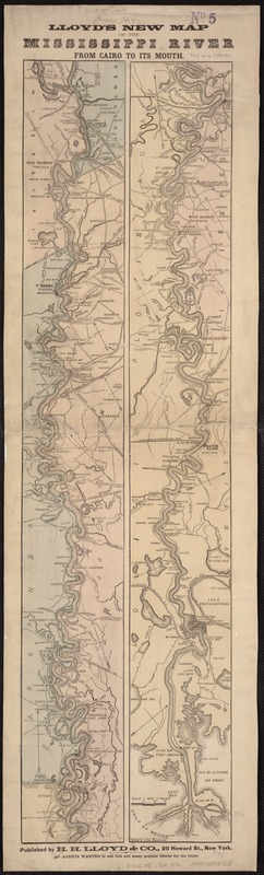 Lloyd's new map of the Mississippi River from Cairo to its mouth