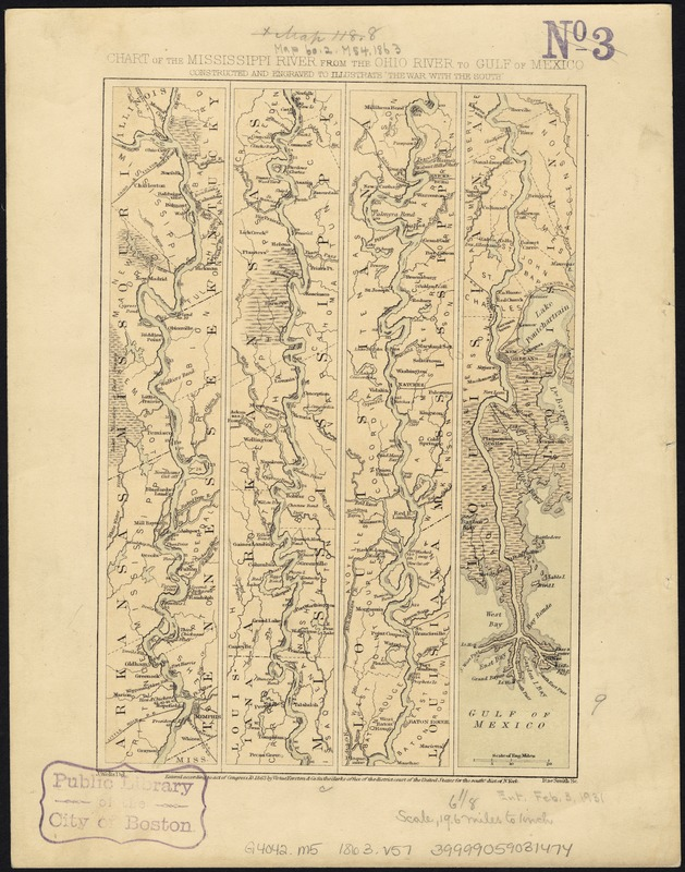 Chart of the Mississippi River from the Ohio River to Gulf of Mexico