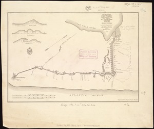 Plan and sections of Fort Fisher, carried by assault by the U.S. forces, Maj. Gen. A.H. Terry commanding, Jan. 15th, 1865