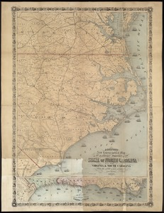 Colton's new topographical map of the eastern portion of the State of North Carolina with part of Virginia & South Carolina from the latest & best authorities