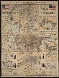 H.H. Lloyd & Co's campaign military charts showing the principal strategic places of interest