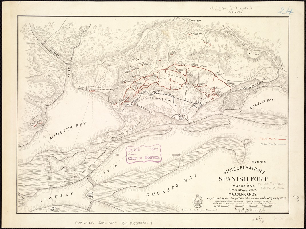 Siege operations at Spanish Fort, Mobile Bay