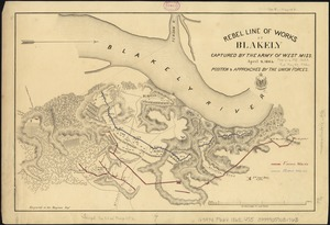Rebel line of works at Blakely captured by the Army of West Miss., April 9, 1865