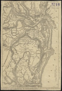 Map of Charleston, S.C., showing the approaches by land and water, the rebel batteries and lines of fire, roads, inlets, principal plantations, etc