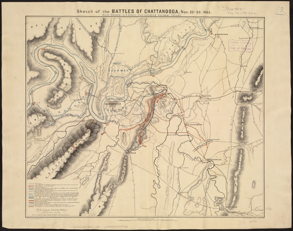 Sketch of the battles of Chattanooga, Nov. 23-26, 1863