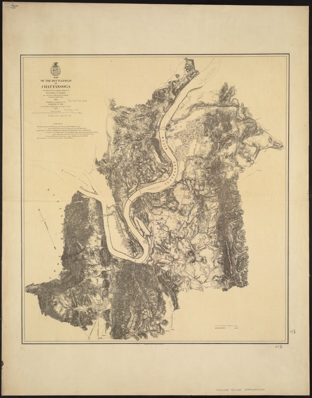 Map of the battlefield of Chattanooga
